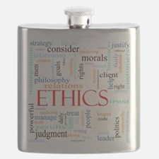 Ethics word concept illustration Flask