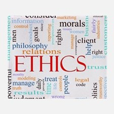 Ethics word concept illustration Throw Blanket