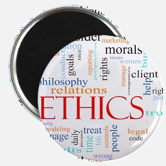 Ethics word concept illustration Magnet