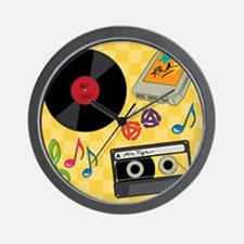 Retro Music Collection Wall Clock