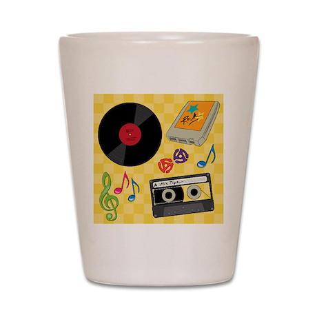 Retro Music Collection Shot Glass
