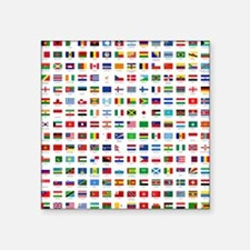 """alphabetically sorted flags Square Sticker 3"""" x 3"""""""