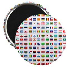 alphabetically sorted flags of the world Magnet