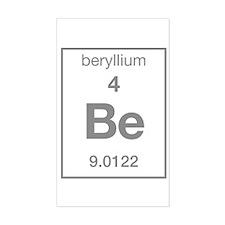 Beryllium Rectangle Decal