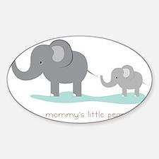 Mommy's Little Peanut Sticker (Oval)
