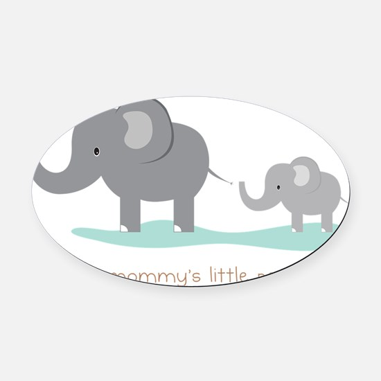 Mommy's Little Peanut Oval Car Magnet