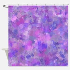Bold pink, purple and lavender canv Shower Curtain