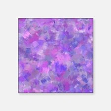 "Bold pink, purple and laven Square Sticker 3"" x 3"""