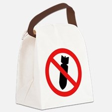 Stop Bombing Sign Canvas Lunch Bag