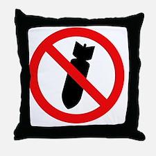 Stop Bombing Sign Throw Pillow