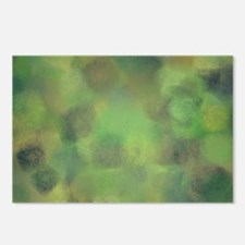 Subdued green and yellow  Postcards (Package of 8)