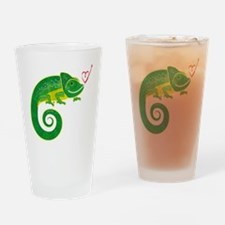 Chameleon with heart. Drinking Glass