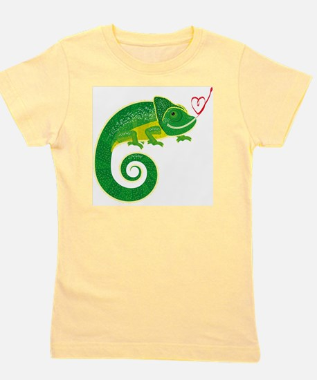 Chameleon with heart. Girl's Tee
