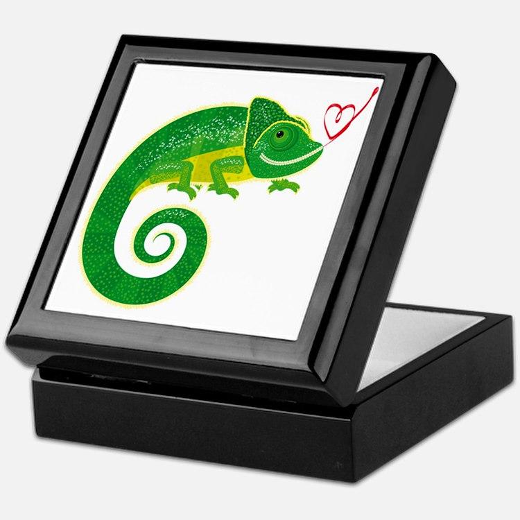 Chameleon with heart. Keepsake Box