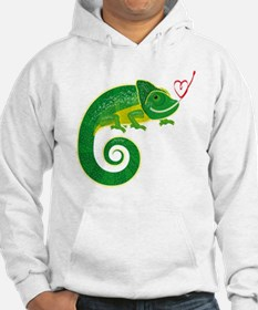 Chameleon with heart. Hoodie