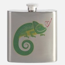 Chameleon with heart. Flask