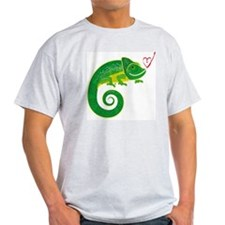 Chameleon with heart. T-Shirt
