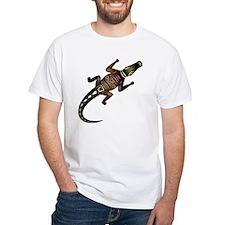 Decorative crocodile on a white b Shirt