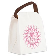 Pink ribbon wreath Canvas Lunch Bag