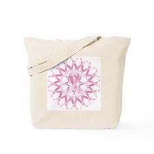 Pink ribbon wreath Tote Bag
