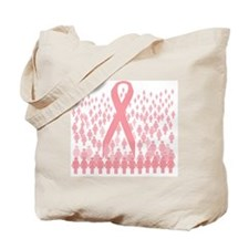 breast cancer march illustration Tote Bag