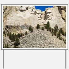 Mount Rushmore National Memorial with mo Yard Sign