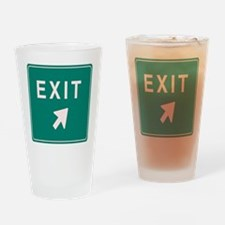 Freeway Exit Drinking Glass
