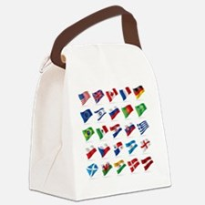 Vector set of world flags 1 Canvas Lunch Bag
