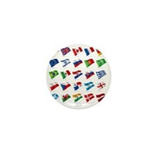 Vector set of world flags 1 Mini Button
