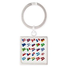 Vector set of world flags 1 Square Keychain