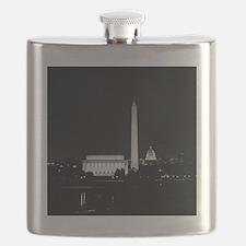 Washington DC Skyline with Lincoln Memorial, Flask