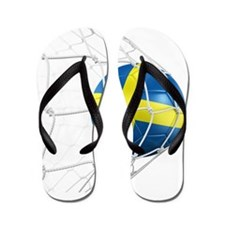 3d rendering of a Swedish soccer ball i Flip Flops