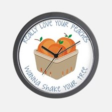 Love Your Peaches Wall Clock