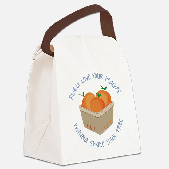 Love Your Peaches Canvas Lunch Bag