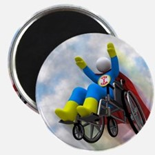 Wheelchair Superhero in Flight Magnet