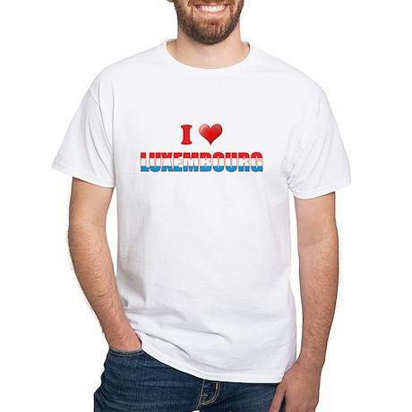 I love Luxembourg White T-Shirt