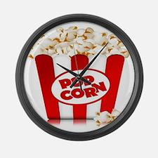 popcorn Large Wall Clock