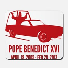 Pope Benedict Retirement Mousepad