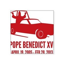 "Pope Benedict Retirement Square Sticker 3"" x 3"""