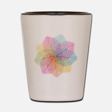Abstract summer leaves Shot Glass