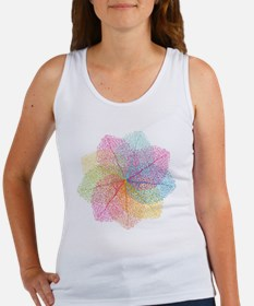 Abstract summer leaves Women's Tank Top