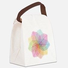 Abstract summer leaves Canvas Lunch Bag