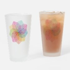 Abstract summer leaves Drinking Glass