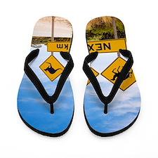 Famous Australian Sign Camels Wombats K Flip Flops