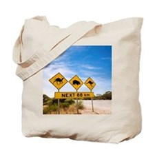 Famous Australian Sign Camels Wombats Kan Tote Bag