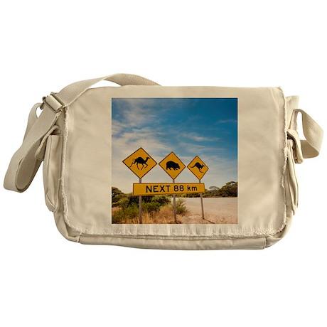 Famous Australian Sign Camels Wombat Messenger Bag