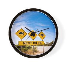 Famous Australian Sign Camels Wombats K Wall Clock