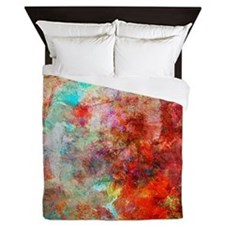 Abstract Painting In Mixed Media Style Queen Duvet