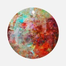 Abstract Painting In Mixed Media St Round Ornament