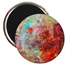 Abstract Painting In Mixed Media Style Magnet